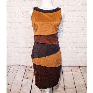Joseph Ribkoff Brown Faux Suede Dress